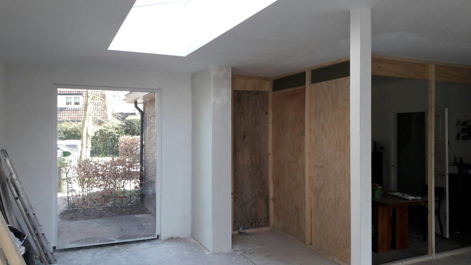 Gestuct Plafond Badkamer : Uitbouw en badkamer groenekan stucadoorsbedrijf serno b v